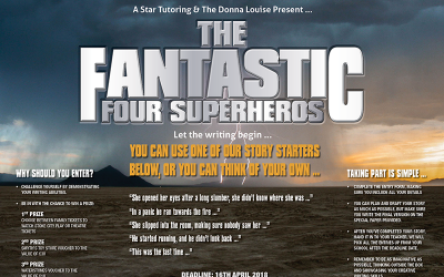 Creative writing competition: The Fantastic Four Superheroes – COMPETITION NOW ENDED